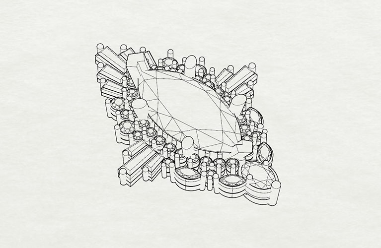 3/4 view line drawing (with issues, sharp prongs)