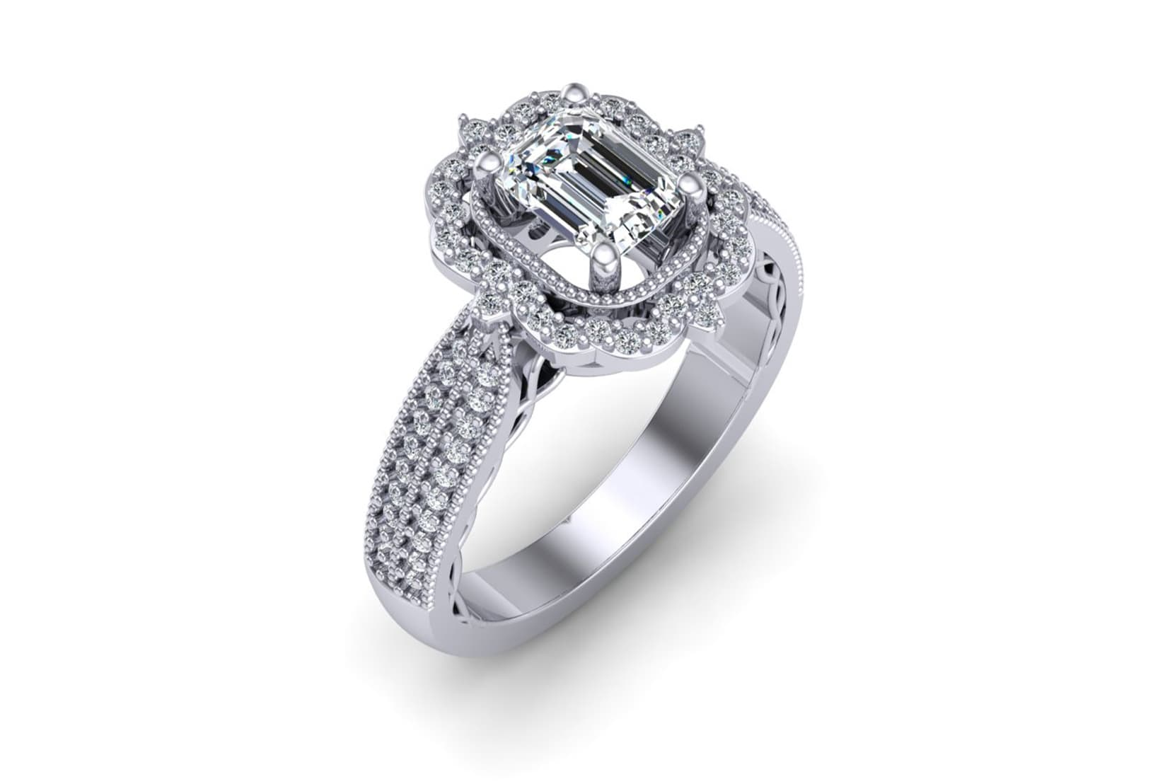 An image of Cassie's custom designed ring
